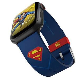 DC Comics - Superman Tactical Edition – Officially Licensed Silicone Smartwatch Band Compatible with Apple Watch, Fits 38mm, 40mm, 42mm and 44mm : My Hero Booth