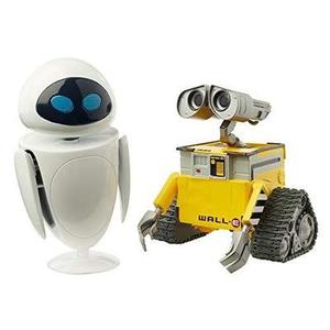 Disney Pixar WALL-E and Eve Figures [Amazon Exclusive] True to Movie Scale Character | My Hero Booth