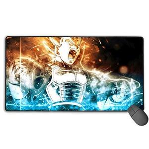 Dragon Ball Super-Vegeta Non-Slip Mouse Pad Rectangle Rubber Anime Mouse Pad Gaming Mouse Pad 30x15.7 Inch(75x40 cm) : My Hero Booth