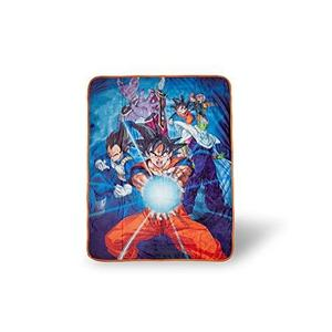 Dragon Ball Z 57925 Super Saiyan Group 6 Throw Blanket, One Size, Multicolor | My Hero Booth