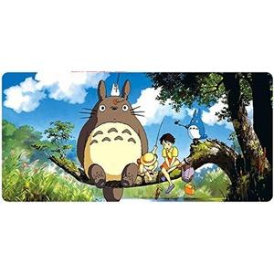 Everyday-Deal Extended Speed Gaming Mousepad - Non-Slip Rubber Base - Stitched Edge (Totoro on Tree) : My Hero Booth