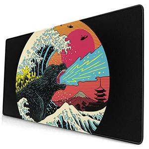 Extra Large Mouse Pad -Retro Wave Kaiju Godzilla Desk Mousepad - 15.8x29.5in (3mm Thick)- XL Protective Keyboard Desk Mouse Mat for Computer/Laptop : My Hero Booth