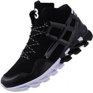 Fashion Sneakers Travel Leather School College Mid Basketball Tennis Autumn High Top Young Man Athletic Running Walking Shoes Black | My Hero Booth