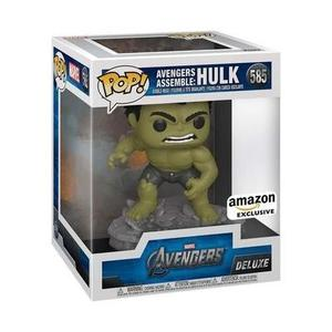 Funko pop!! Deluxe, Marvel: Avengers Assemble Series - Hulk, Amazon Exclusive -Action Figure-My Hero Booth