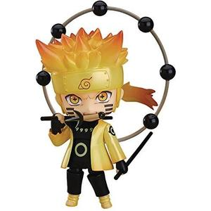Good Smile Naruto Shippuden: Naruto Uzumaki (Sage of The Six Paths Version) Nendoroid Action Figure, Multicolor-My Hero Booth