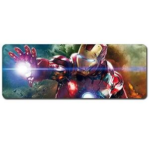 Iron Man,Avengers Mouse Pad,Professional Large Gaming Mouse Pad, Classic Pattern Mouse mat,Extended Size Desk Mat Non-Slip Rubber Mouse Mat,Marvel (800 × 300× 2 mm / 31.5 × 11.8 × 0.1 inch, 34) : My Hero Booth