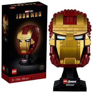 LEGO Marvel Avengers Iron Man Helmet 76165; Brick Iron Man-Mask for-Adults to Build and Display, Creative Challenge for Marvel Fans, New 2020 (480 Pieces) | My Hero Booth