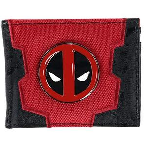 Marvel Deadpool Bi-Fold Boxed Wallet, Red & Black, One Size : My Hero Booth