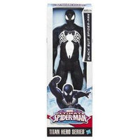 Marvel Ultimate Spider-Man Titan Hero Series Black Suit Spider-Man Figure - 12 Inch -Action Figure-My Hero Booth