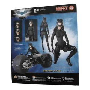 Medicom MAFEX #009 The Dark Knight Trilogy Selina Kyle Catwoman Action Figure Bundle with 1 Batman Movie Collector Card-My Hero Booth