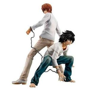 Megahouse Death Note: Light Yagami Moon & L Gem Series PVC Statue | My Hero Booth