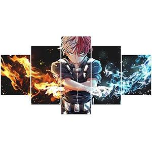 My Hero Academia Todoroki Shoto Poster Japanese Anime Prints on Canvas Unframed Home Living Room Club Decor | My Hero Booth