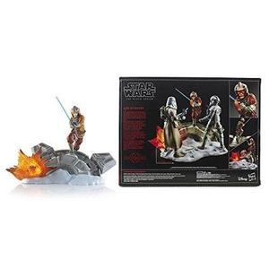 Star Wars Black Series Luke Skywalker Statue Centerpiece - Action Packed Display of a Classic Scene - Light Up Feature - 3 AAA Batteries Not Included - Add More Characters to Build the Scene | My Hero Booth
