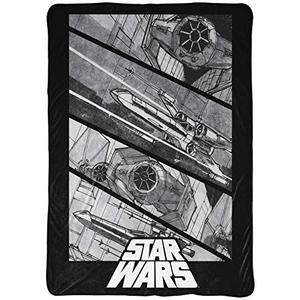 Star Wars Vehicle Blanket - Measures 60 x 90 inches, Bedding - Fade Resistant Super Soft Fleece (Official Star Wars Product) | My Hero Booth