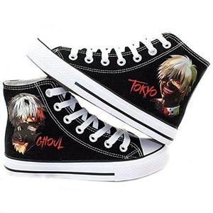 Tokyo Ghoul Anime Kaneki Ken Cosplay Shoes Canvas Shoes Sneakers Black/White | My Hero Booth