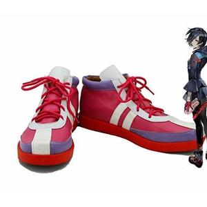 Tokyo Ghoul Anime Kirishima Touka Cosplay Shoes Boots Custom Made Red | My Hero Booth