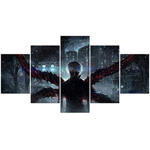 Tokyo Ghoul Anime Poster Kaneki Ken Prints on Canvas Unframed Wall Art Decoration Cool for Home Club Decor | My Hero Booth