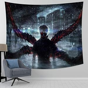 Tokyo Ghoul Tapestry Japanese Anime Tapestry Wall Hanging for Anime Gifts Bedroom 59x70in | My Hero Booth