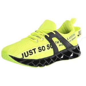 UMYOGO Sport Running Shoes for Mens Mesh Breathable Trail Runners Fashion Sneakers Green | My Hero Booth