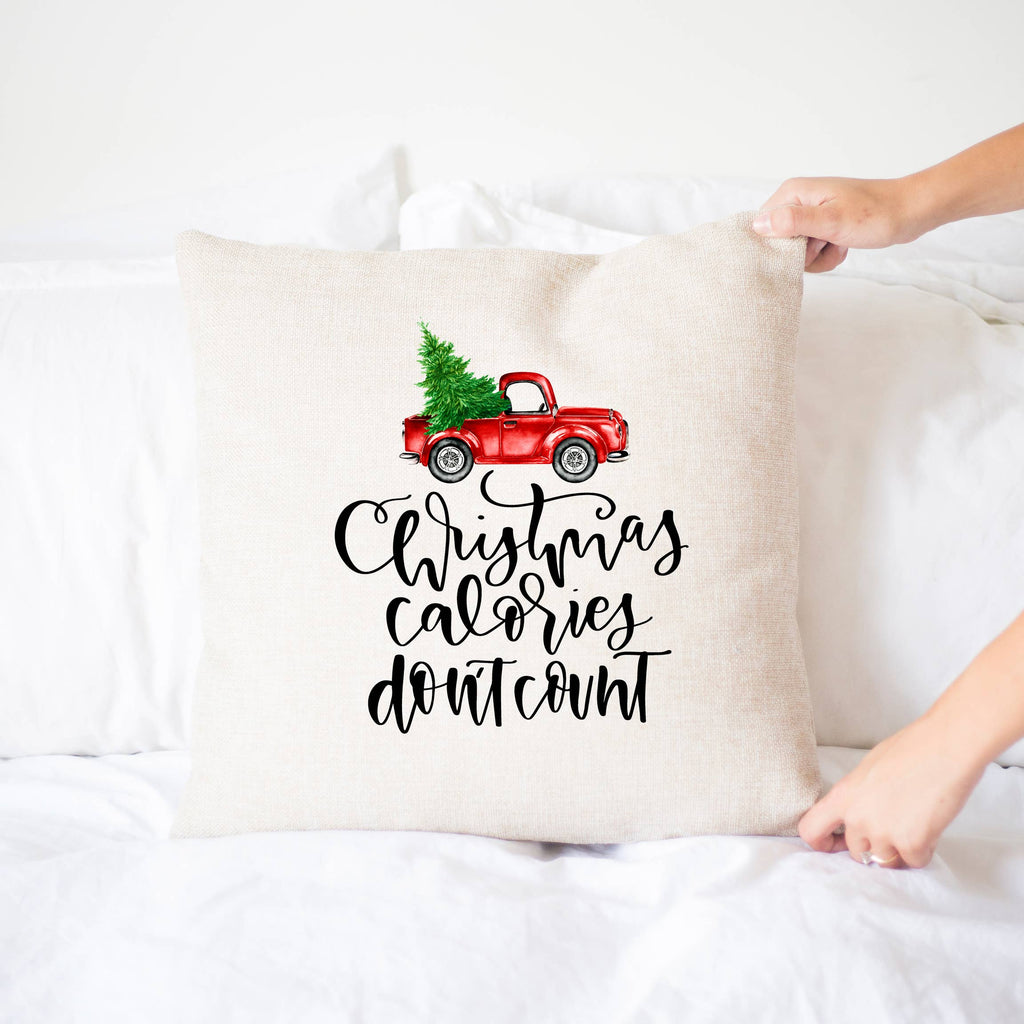 Christmas Calories Don't Count Pillow Cover