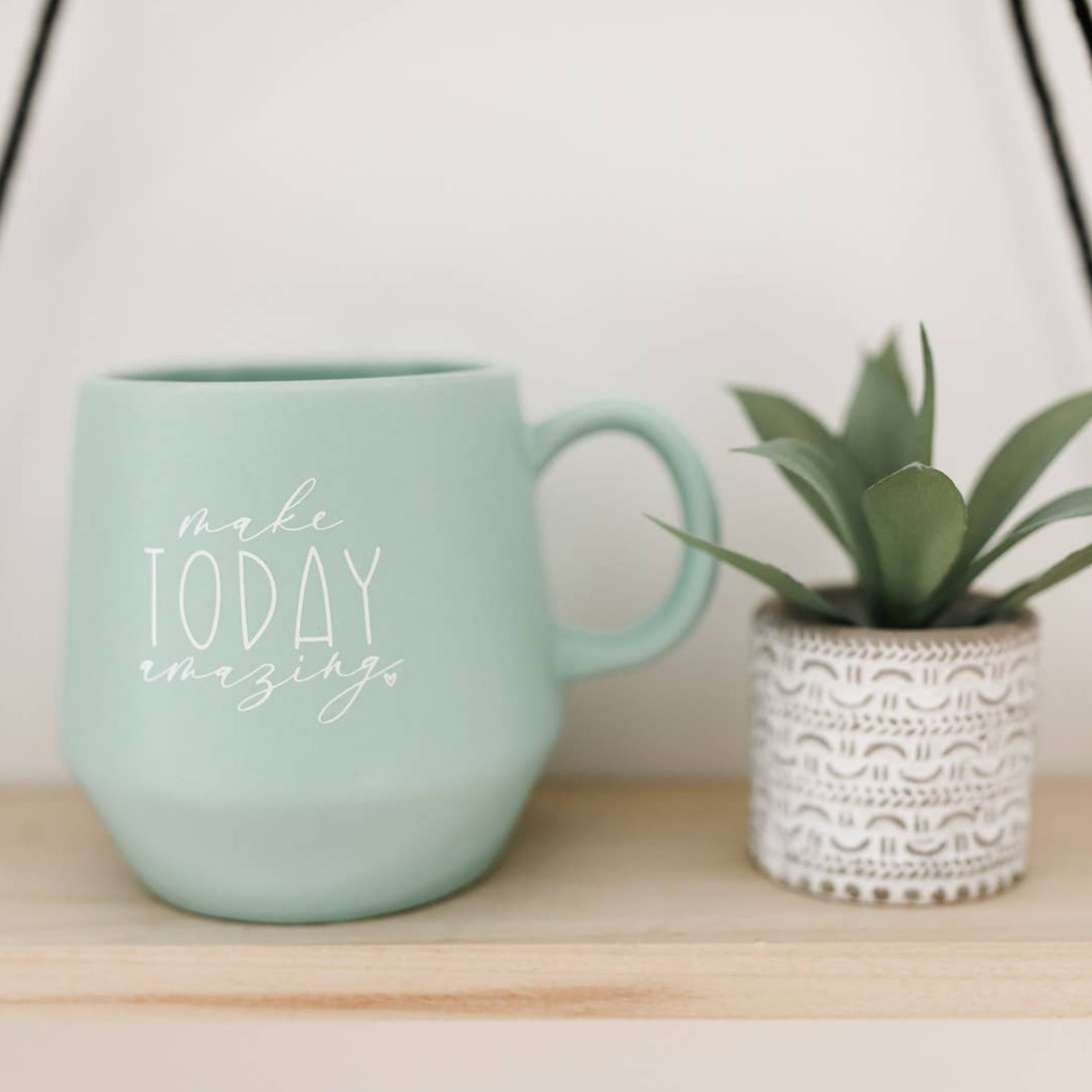Make Today Amazing Mint Green Mug