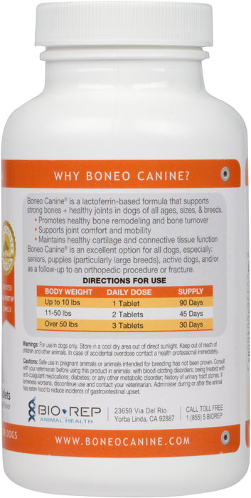 Boneo Canine Maintenance Formula 90 Chewable Tablets Directions