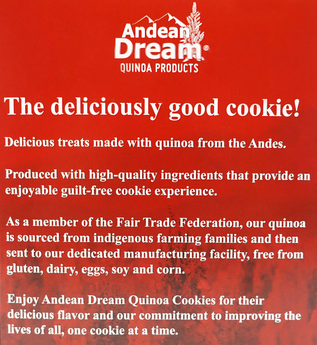 Andean Dream Quinoa Chocolate Chip Cookies (Pack of 6)