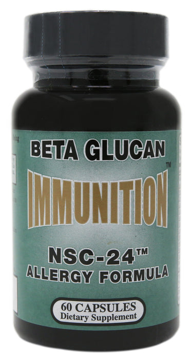 Nutritional Scientific Corporation Immunition NSC-24 Allergy Formula Beta Glucan 60 Capsules.