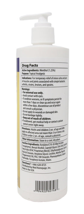 Hope Science: EFAC Pain Relieving Cream 16oz
