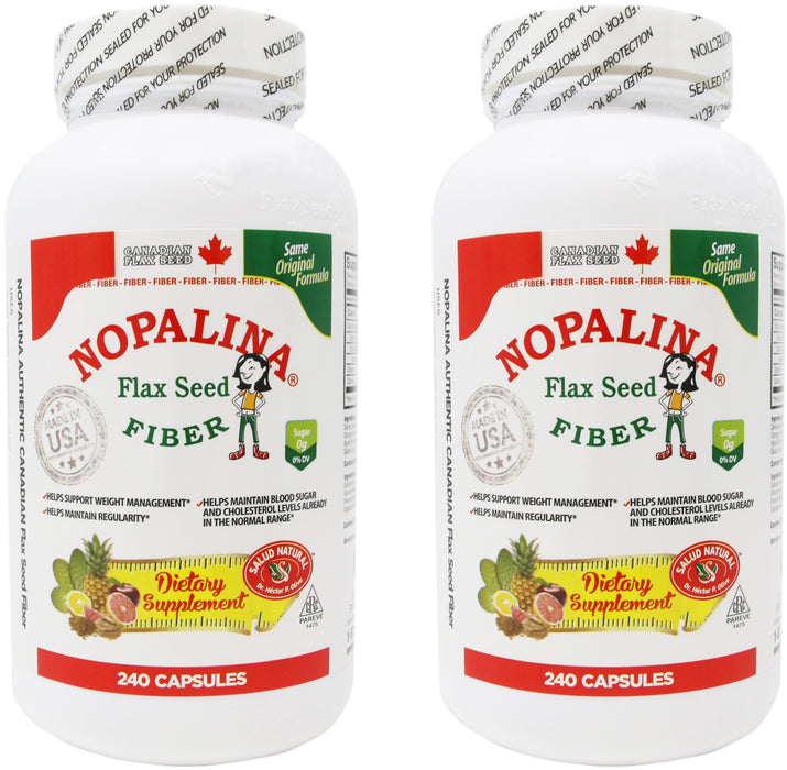 Nopalina Flax Seed Fiber 240 Count (2 Pack)