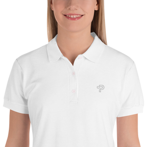 Embroidered Women's Polo Shirt Small Brand