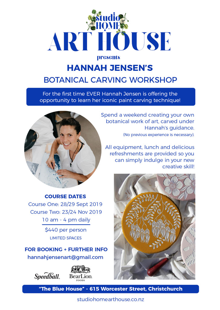 Hannah Jensen Carving Workshop - Studio Home ART HOUSE
