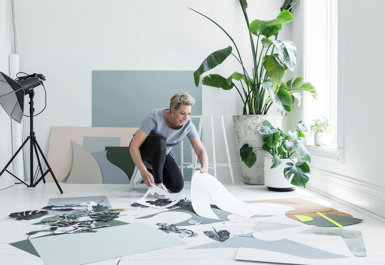 Anna Church at work in her Toronto studio