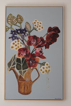 "Load image into Gallery viewer, ""Earth Orchid"" by Wendy Matenga -Original acrylic painting. Available online at Studio Home ART HOUSE / home of exciting New Zealand Art"