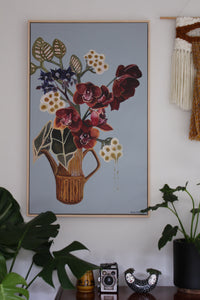 """Earth Orchid"" by Wendy Matenga -Original acrylic painting. Available online at Studio Home ART HOUSE / home of exciting New Zealand Art"