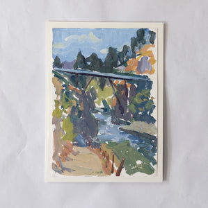 """The Ferry Bridge"" on paper by Stacey Gledhill"