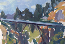 "Load image into Gallery viewer, ""The Ferry Bridge"" on paper by Stacey Gledhill"