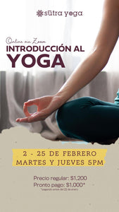 Sutra Yoga - Introduccion al Yoga