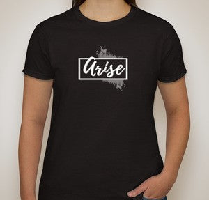 Arise White Logo T-shirt - Women's Cut