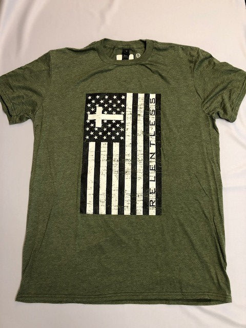 Relentless - Army Green T-shirt - Men's