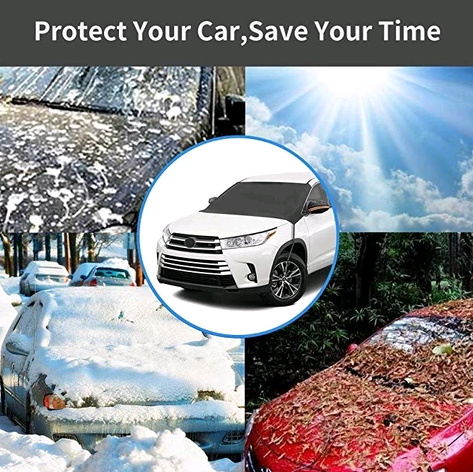 Premium Windshield Snow Cover Sunshade (All in One)