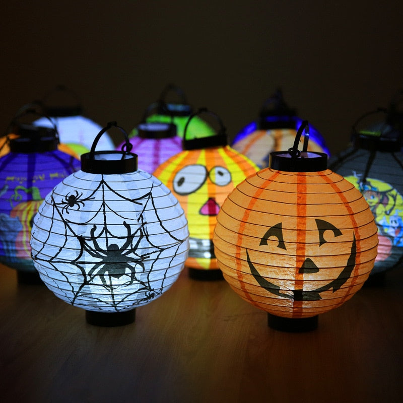 Halloween Decoration LED Paper Pumpkin