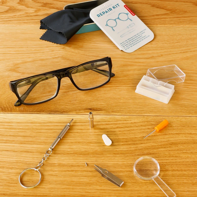 Kikkerland Eyeglass Repair Kit - 16 Piece Set