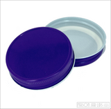 Colourful Mason Jar Lids Perfectly Purple
