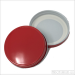 Colourful Mason Jar Lids Ruby Red