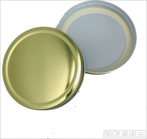 Colourful Mason Jar Lids - Wide Mouth Glamorous Gold