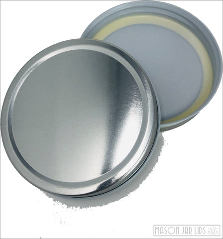 Colourful Mason Jar Lids - Wide Mouth Stunning Silver