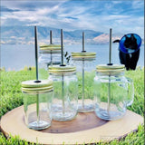 Straw Hole Lids For Thin Straws Mason Jar