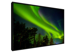 Stretched Canvas Classic - Float Frame - Northern light