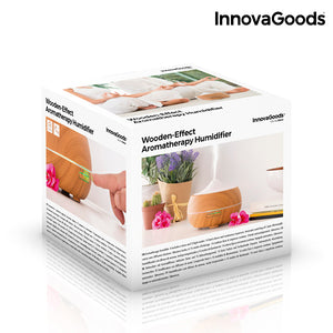 InnovaGoods Wooden-Effect Aromatherapy Humidifier